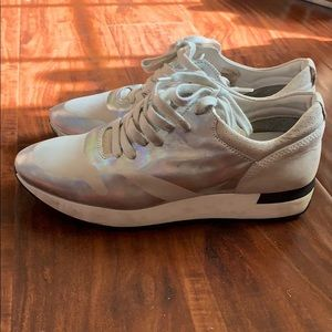 Free people sneakers white metallic size 38 shoes